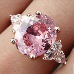 Jewelry - 🎀3/$23🎀 Pink Sapphire Ring   Size 7 & 8